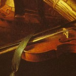Nicolas Henri Jeaurat (1756): detail of a Violin open wound 3rd string