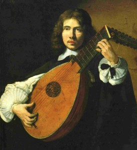Anonymous french portrait of a lutenist, second half of the seventeenth century, Kunsthalle, Hamburg