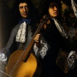 Francoise Puget (1687 ca.): wound strings on a Bass-violin